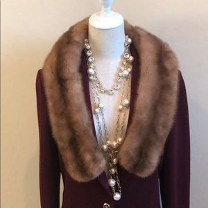 Real Fur Shawl/Stole Velour Lined